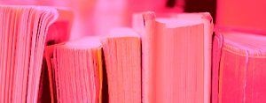 pink book spines