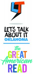 Let's Talk About It, Oklahoma & Great American Read logos- vertical